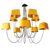 Suspension DesignHeure GRAND NUAGE - Lustre 10 Lumières Jaune/Or Ø223cm