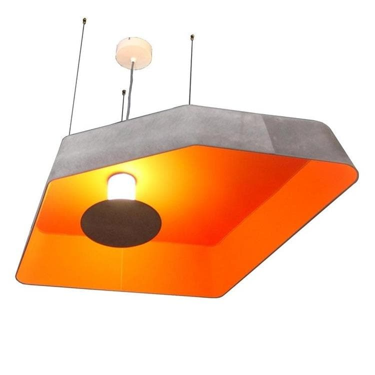PETIT NENUPHAR orange Suspension LED L90cm
