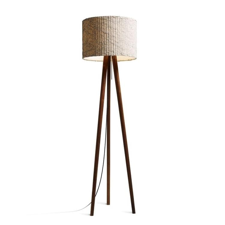 STEN CLOUD noyer taupe Lampadaire Trépied H153cm