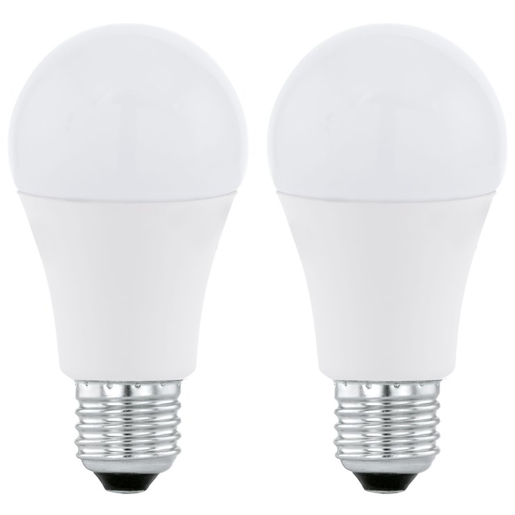EGLO  Lot de 2 Ampoules LED standards E27 Ø6cm 3000K 10W = 60W 806 Lumens
