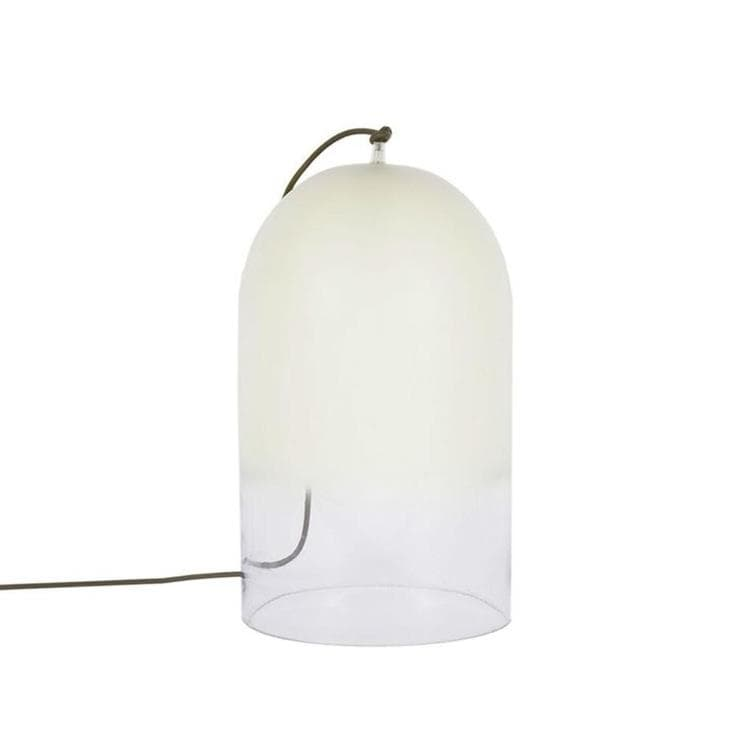 lampe poser cloche verre blanc clair h28cm dewy lampe poser eno studio crous calogero. Black Bedroom Furniture Sets. Home Design Ideas