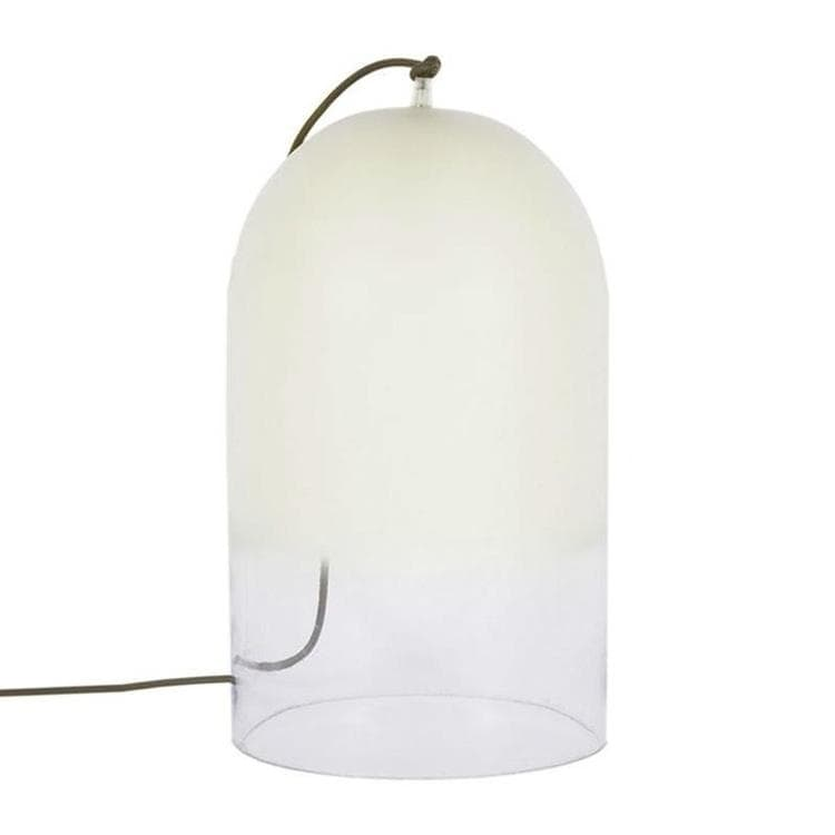 lampe poser cloche verre blanc clair h42cm dewy lampe poser eno studio crous calogero. Black Bedroom Furniture Sets. Home Design Ideas