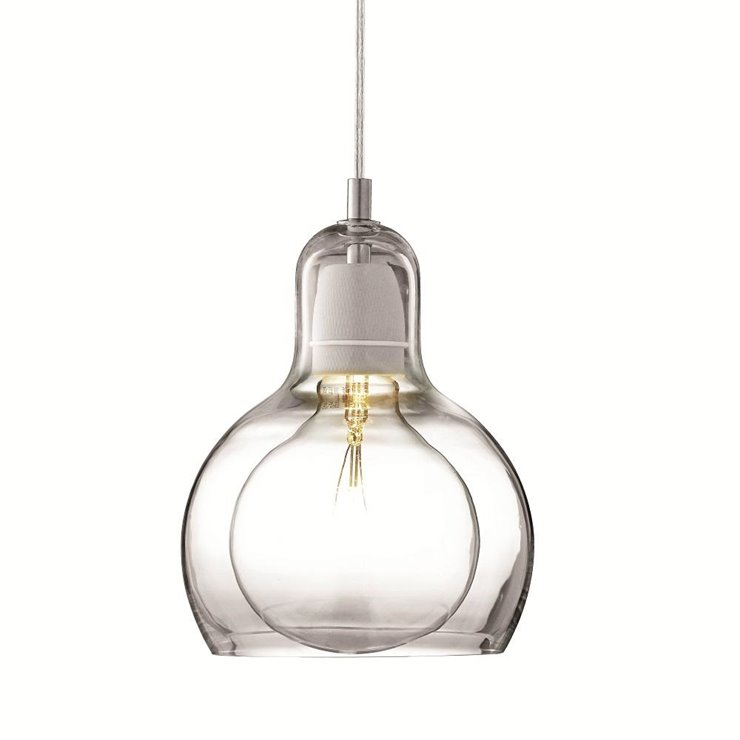 BULB MEGA transparent fil transparent Suspension Verre Ø18cm