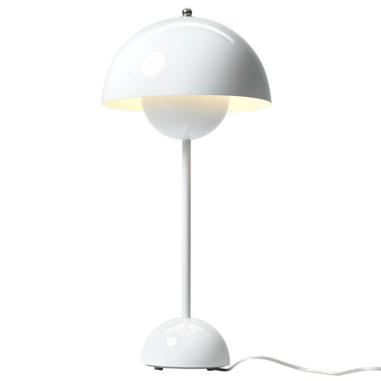 FLOWERPOT VP3 Blanc Lampe de table H50cm