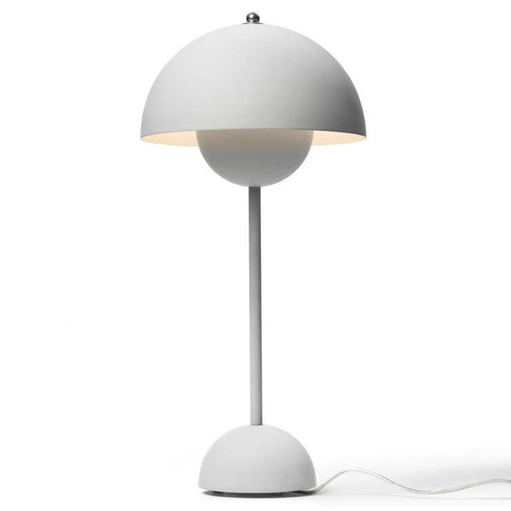 FLOWERPOT VP3 gris clair mat Lampe de table H50cm