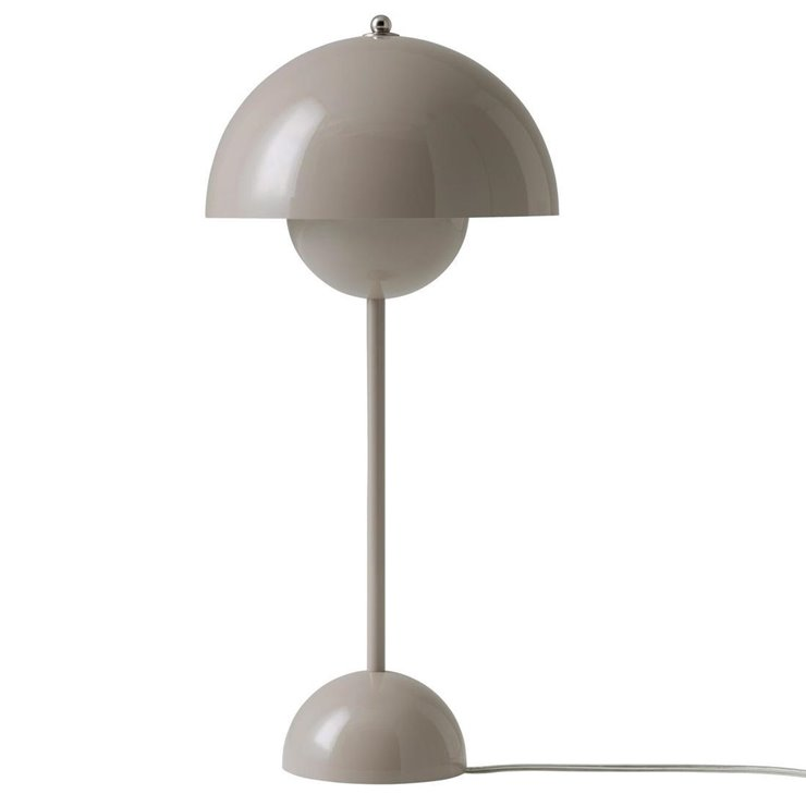 FLOWERPOT VP3 taupe Lampe de table H50cm