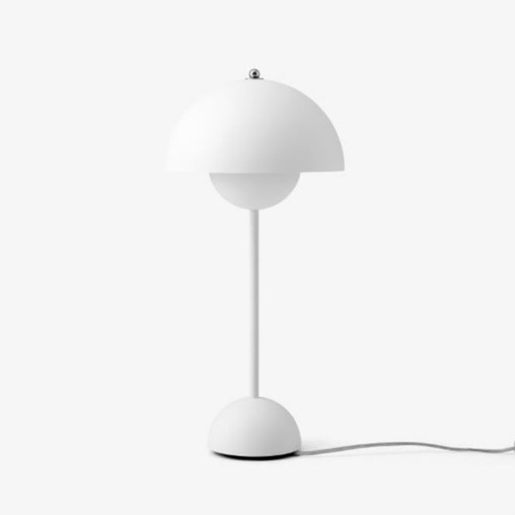 FLOWERPOT VP3 blanc mat Lampe de table H50cm