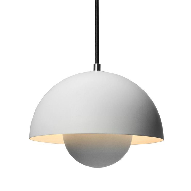 FLOWERPOT - Suspension Gris clair mat Ø23cm & Tradition