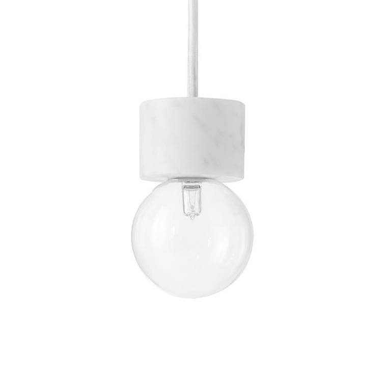 MARBLE LIGHT - Suspension Marbre/Verre Ø8cm & Tradition