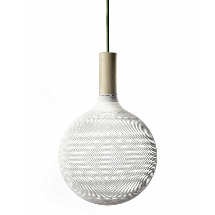 AFILLIA Blanc Suspension Bois Ø22cm