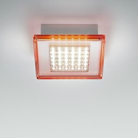 Plafonnier LED de salle de bain Transparent/Rouge L40cm - QUADRILED ...