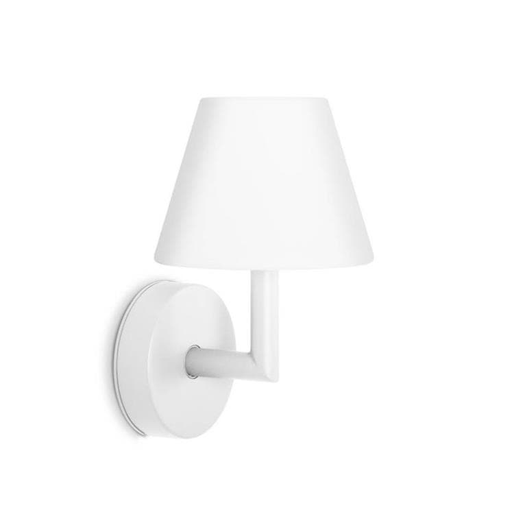 ADD THE WALLY Blanc Applique murale LED rechargeable H22cm
