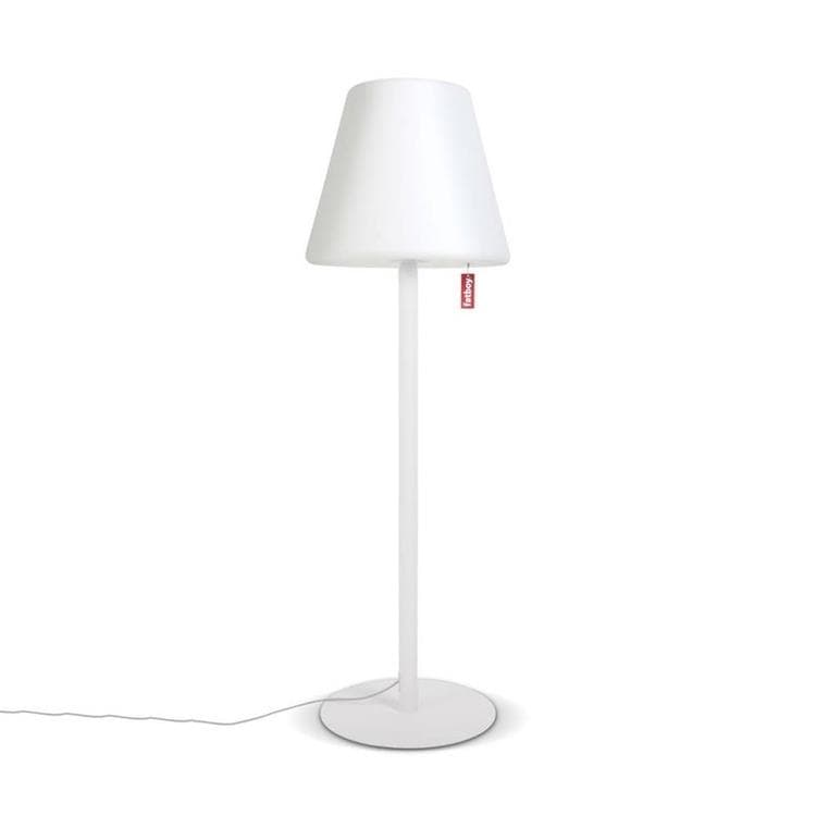 Lampadaire d 39 ext rieur led blanc h182cm edison the giant for Installer un lampadaire exterieur
