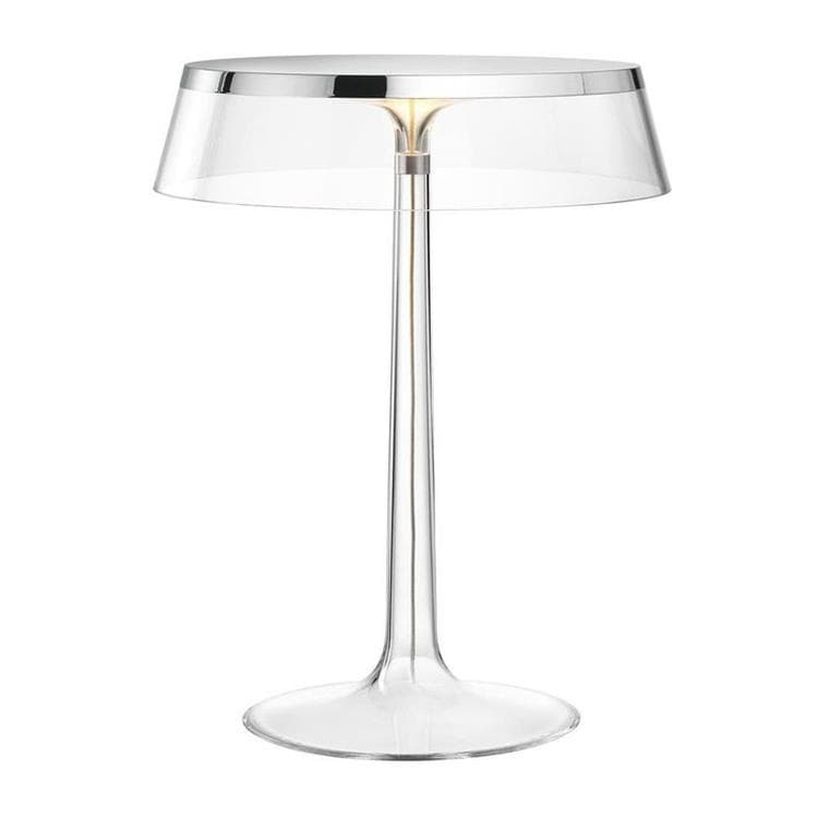 BON JOUR chrome et transparent Lampe à poser LED H41cm