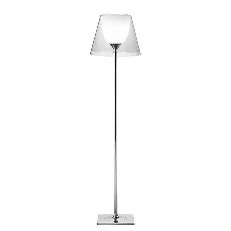 KTRIBE F2 chrome et transparent Lampadaire H162cm