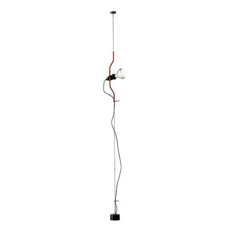 PARENTESI Rouge Spot sur câble vertical Dimmer H180-400cm