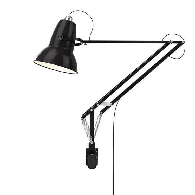 original 1227 giant applique murale articul e d 39 ext rieur l230cm noir brillant anglepoise george. Black Bedroom Furniture Sets. Home Design Ideas