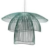 Suspension Forestier PAPILLON - Suspension Métal Bleu grisé Ø100cm