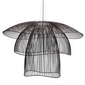 suspension Forestier PAPILLON - Suspension fil de fer Noir Ø100cm
