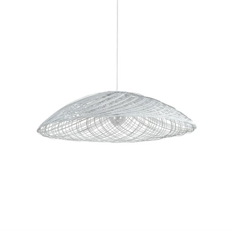 SATELISE - Suspension Rotin Blanc Ø55cm Forestier