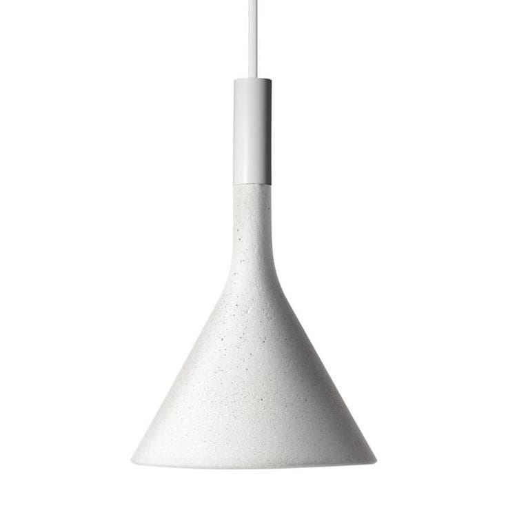 APLOMB MINI Blanc Suspension Ciment ampoule LED Ø11,5cm