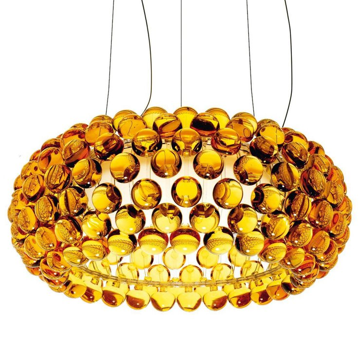 CABOCHE MEDIA ambre Suspension LED Ø50cm