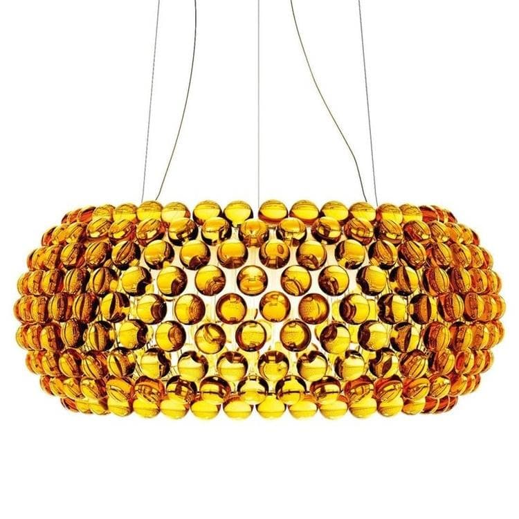 CABOCHE ambre Suspension LED Ø70cm