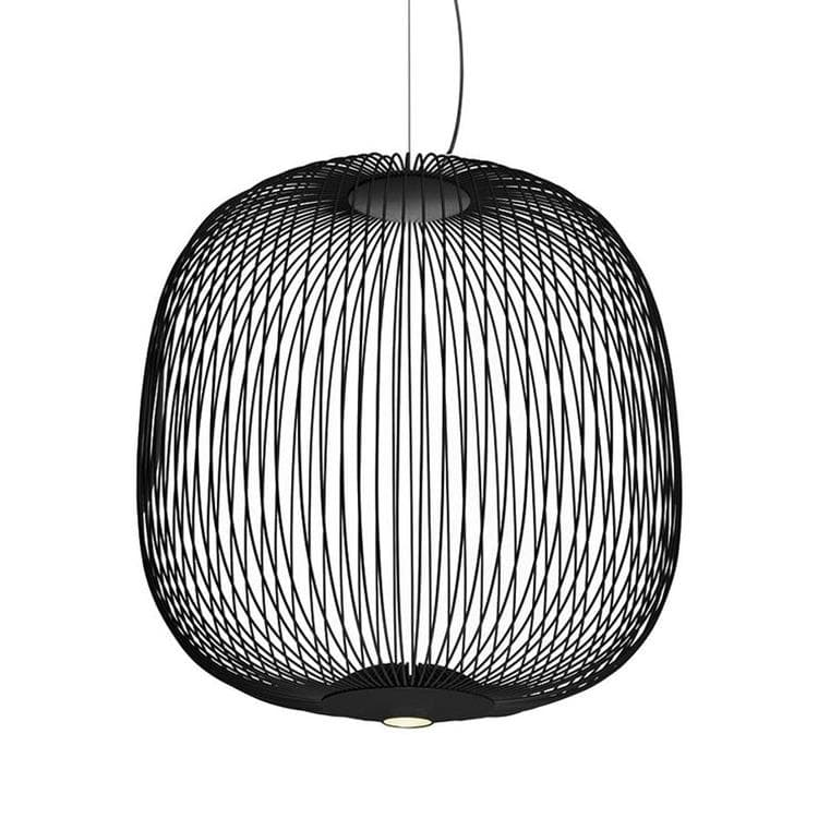 SPOKES 2 Noir Suspension LED Fils de Fer H52,5cm