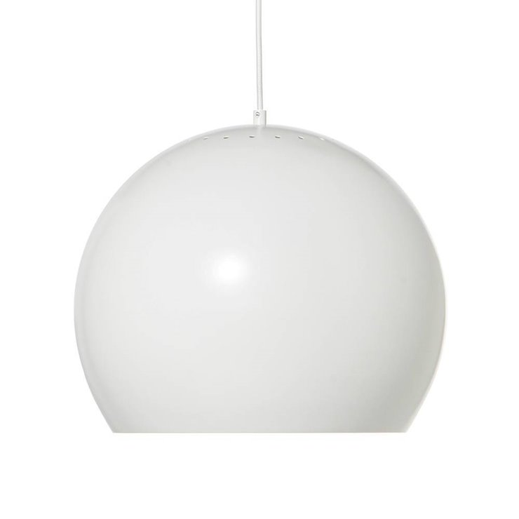 BALL blanc mat Suspension Métal Ø40cm