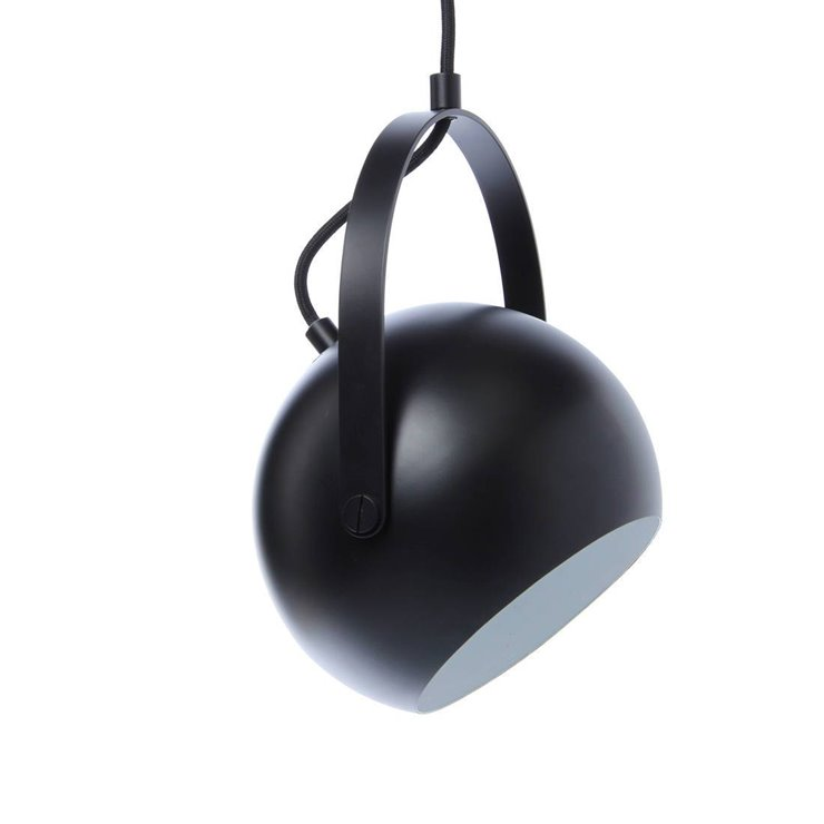 BALL Noir Mat Suspension orientable Métal Ø25cm