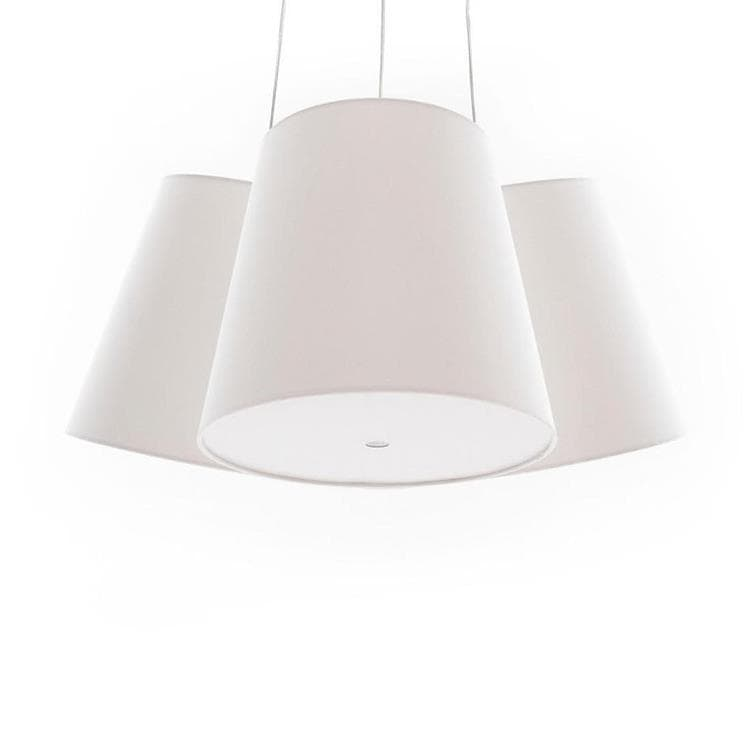 CLUSTER Blanc Suspension 3 Abat-Jours Ø39cm