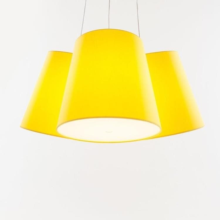 CLUSTER Jaune Suspension 3 Abat-Jours Ø39cm