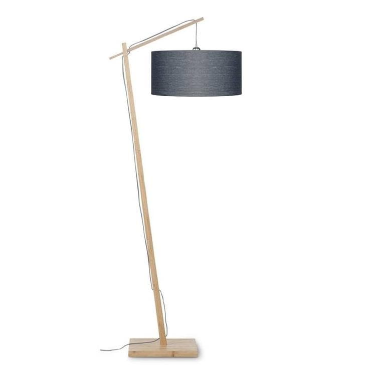 ANDES gris anthracite Lampadaire Bambou & Lin Naturel H176cm