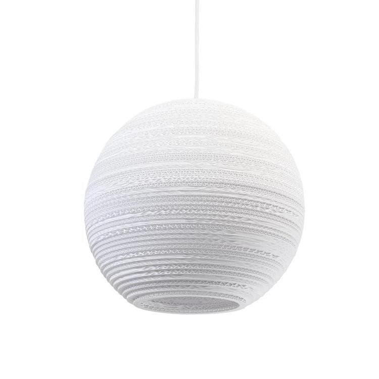 MOON Blanc Suspension Carton Ø36cm