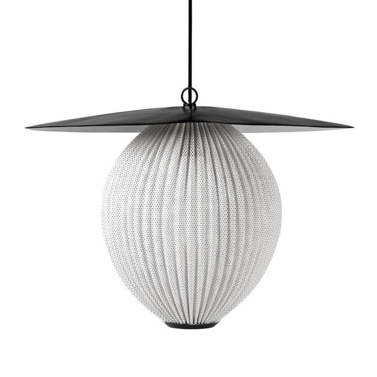 SATELLITE noir blanc Suspension L57cm