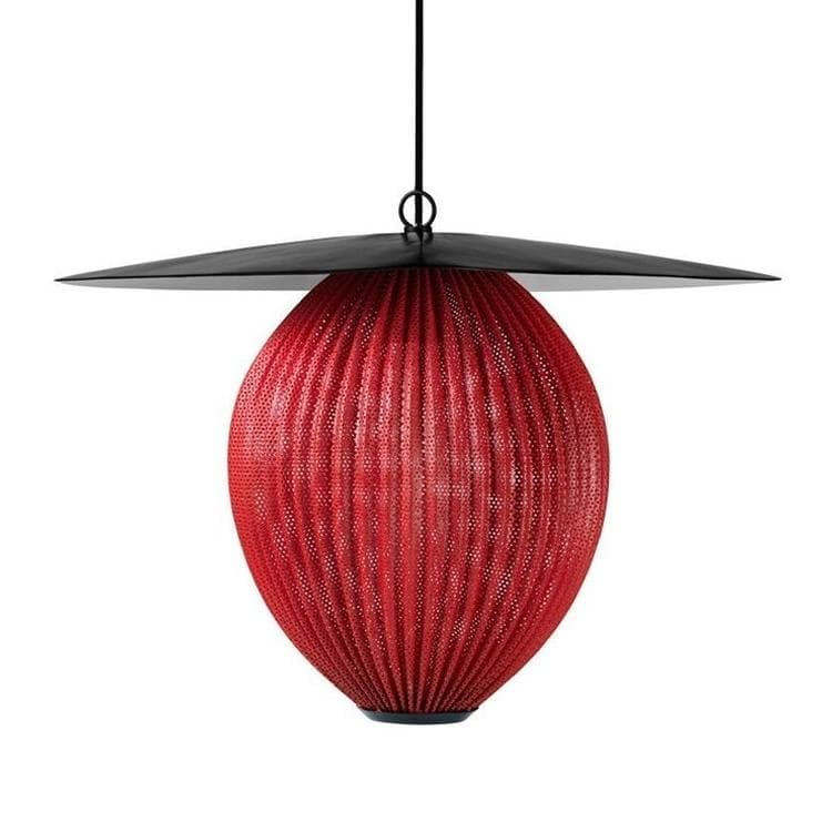 SATELLITE noir rouge Suspension L57cm