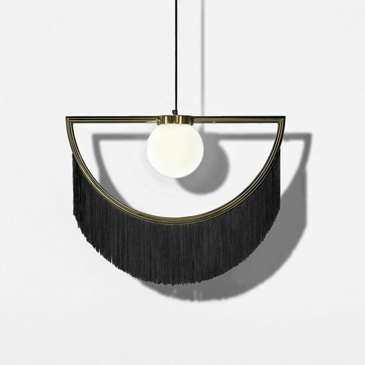 WINK or et noir Suspension Métal & Franges L60cm