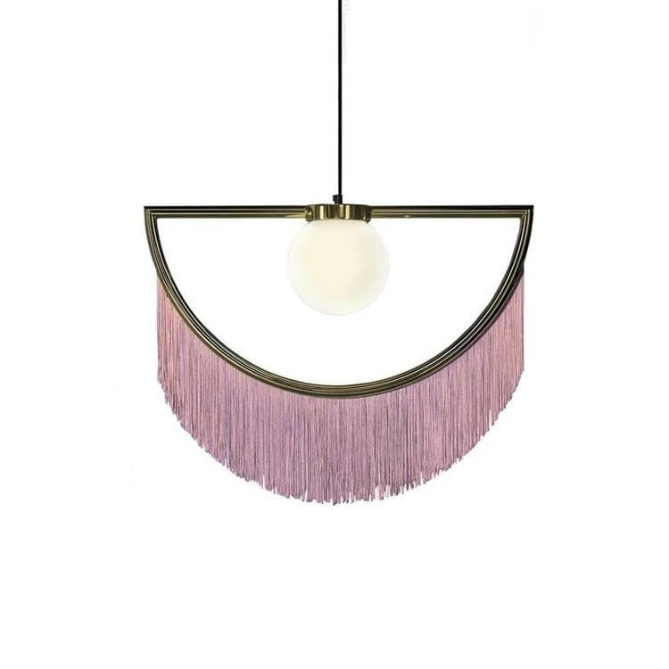 WINK or et rose Suspension Métal & Franges L60cm