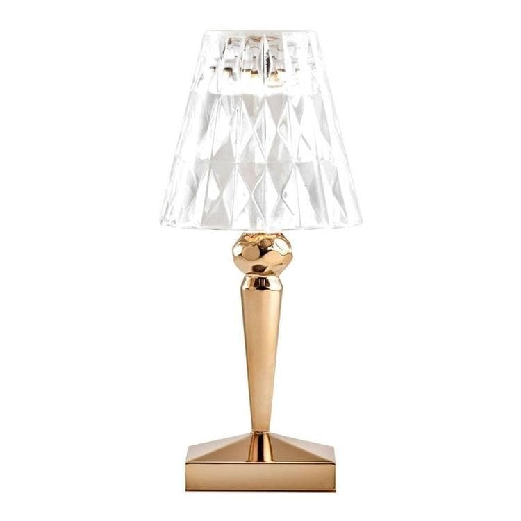 Lampe a poser Kartell BATTERY Lampe a poser LED exterieur rechargeable Or Transparent H22cm 21172 855 5 Beau Lampe A Poser Rechargeable Kdh6