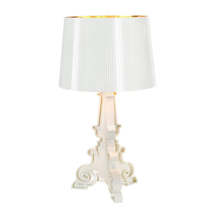 BOURGIE blanc et or Lampe à poser H68-78cm