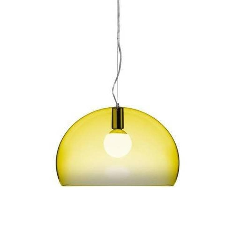 SMALL FL/Y jaune translucide Suspension Ø38cm