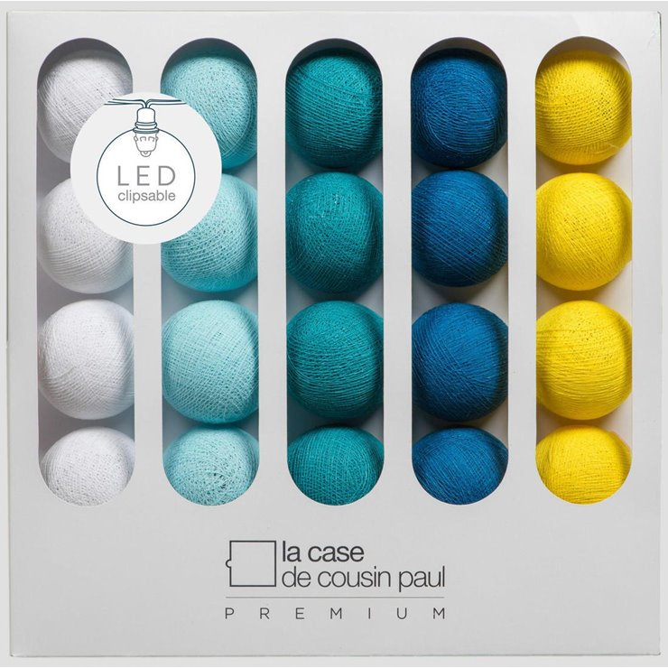 Coffret guirlande lumineuse premium led blanc ciel - La case de cousin paul reduction ...