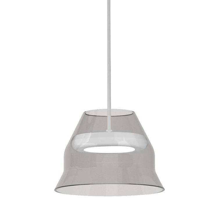 HAL Blanc Suspension LED abat-jour verre fumé Ø17cm