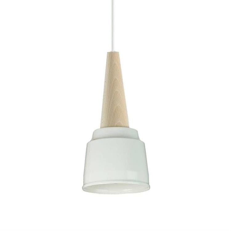 ICE CREAM Blanc Suspension Bois & Métal H30cm