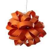 Suspension LZF AGATHA - Suspension Bois Orange Ø80cm