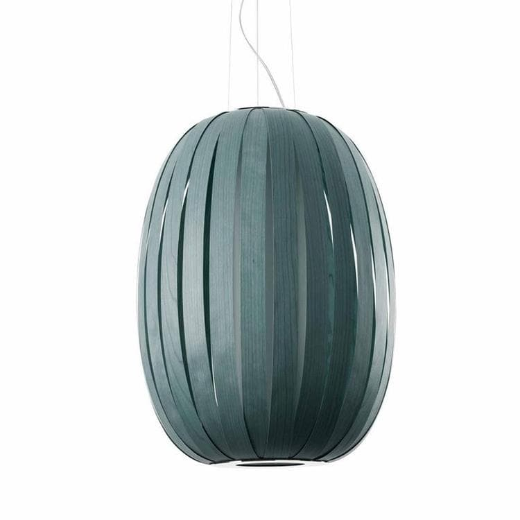 POD bleu denim Suspension Bois Ø53cm