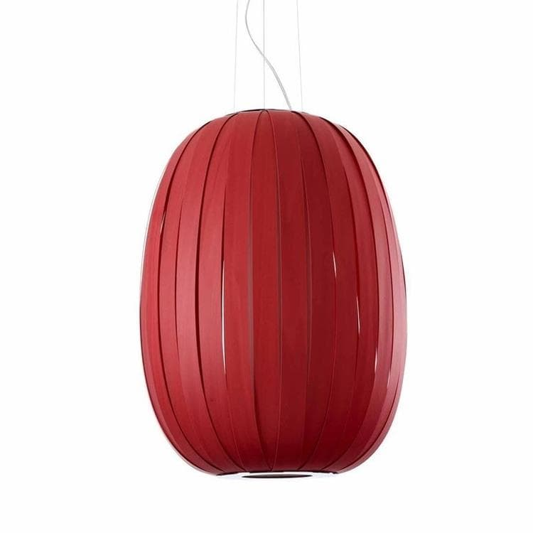POD Rouge Suspension Bois Ø53cm