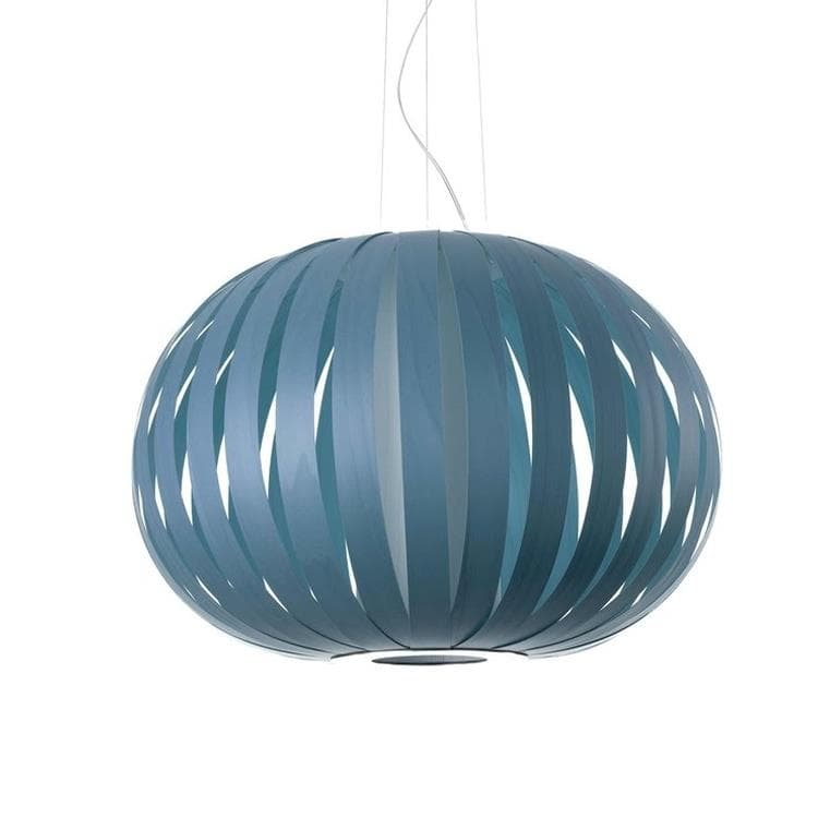 POPPY bleu denim Suspension Bois Ø63cm