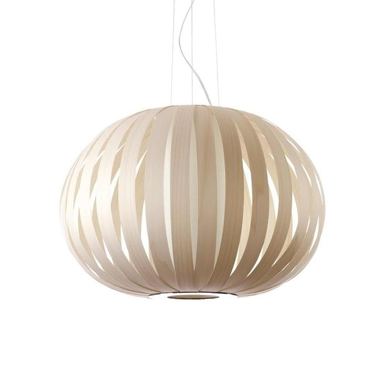 POPPY ivoire Suspension Bois Ø63cm
