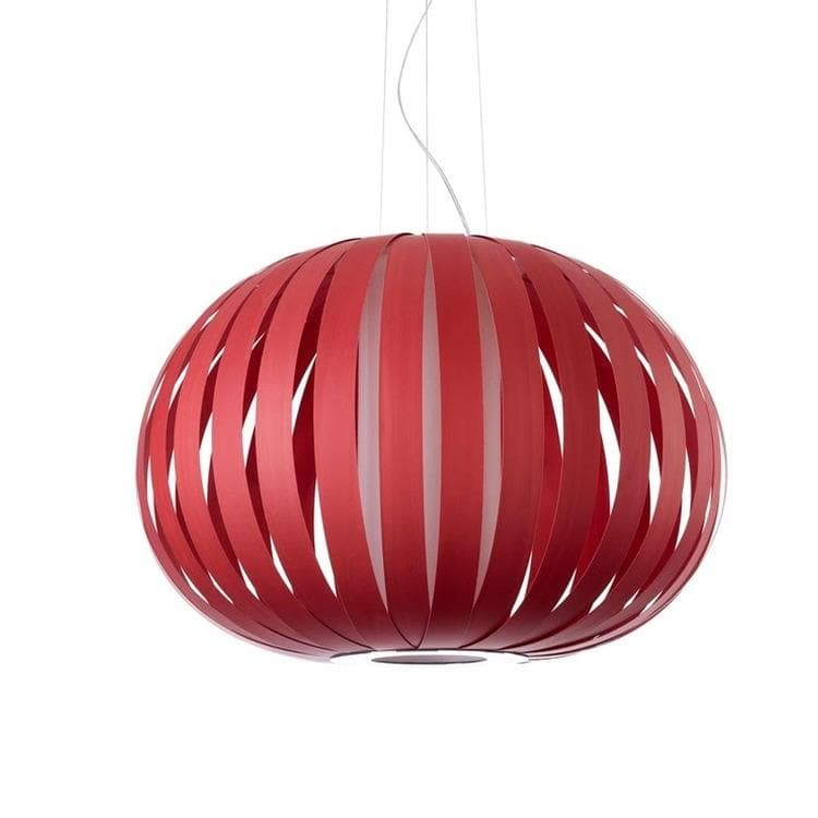 POPPY Rouge Suspension Bois Ø63cm